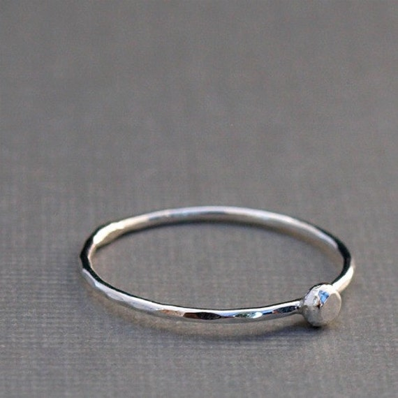sterling silver ring thin silver ring simple silver ring