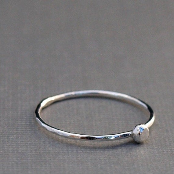 sterling silver ring thin silver ring simple by