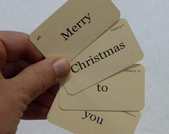 Mini Christmas Sentences flash cards