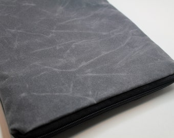 """Waxed Canvas -13"""" or 15"""" MacBook Pro/13"""" or 15"""" Macbook Pro with Retina Display Laptop Sleeve Case Cover-Padded and Weather Repellent - Gray"""