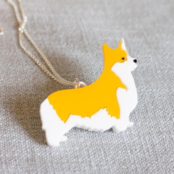 Corgi necklace - Corgi Jewellery - Dog necklace - Dog gift - Corgi Gift - Gift for dog lover - Corgi Jewelry - Gift with Corgi - Corgi Dog