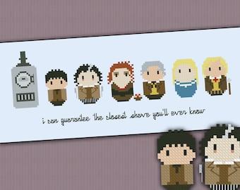 Sweeney Todd parody - Cross stitch PDF pattern