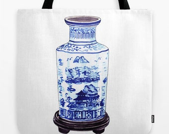 CHINOISERIE VASE TOTE