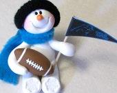 Carolina Panthers football snowman ornament