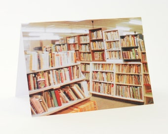 Books on Books - Analog Photography - Greeting Card
