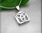 Celtic Trinity Knot Necklace Triquetra Irish Jewelry Sterling Silver Pendant (SN768)