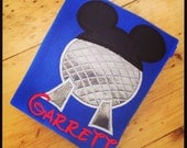Mickey Epcot Appliqué Tshirt or bodysuit vacation shirt