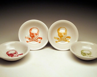 Rainbow Skull Dipping Bowls LIMITED EDITION set of 4