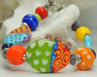 JASMIN Handmade Lampwork Bead Bracelet
