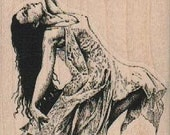 Rubber stamp Dancing Lady gypsy unMounted  scrapbooking supplies number 19183