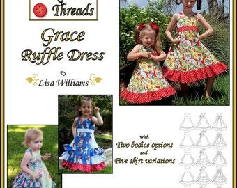 INSTANT DOWNLOAD: Grace Ruffle Dress - diy Tutorial pdf eBook Pattern - Sizes 18M to 14