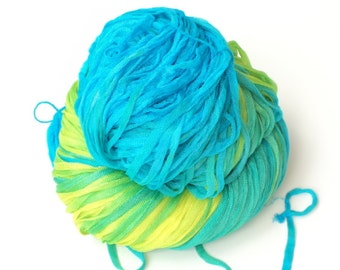 Daybreak, Hand Painted, Hand Dyed, Ribbon, Art Yarn, Yarn