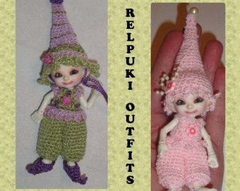 RealPuki Hat Romper Outfit and Elf Shoes Digital Crochet Pattern