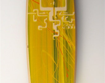 SOLD:Summer Soulsticks Longboard Skateboard Complete Jellyfish Limited Edition Print Handmade SOLD