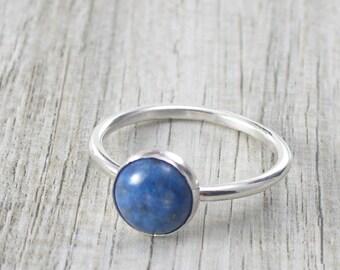 Blue Denim Lapis Lazuli Ring