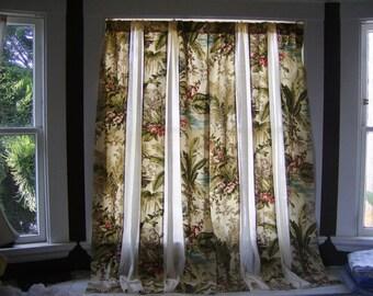 Jungle Print Paneled Curtains