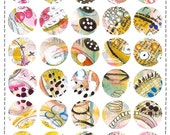 Small Mixed Media Stickers - Sheet Eight for Mail Art, Journaling and Mixed Media Projects!