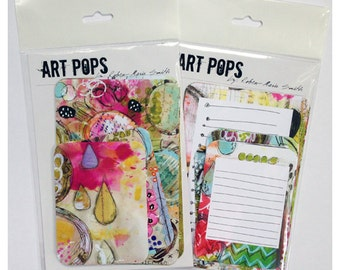 ART POPS Mixed Media Artist Card Set One and Two