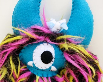 Jack - Handmade furry plush monster doll