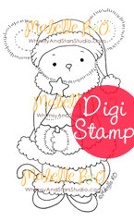 Instant Download Digi Stamp: Lucy Christmas