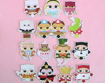 Alice in Wonderland Owl Magnets