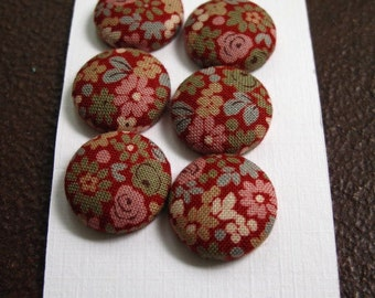 Wearable Sew On Fabric Covered Buttons - Size 30 Flowers