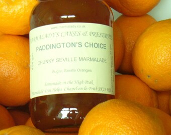 Orange Marmalade PADDINGTON'S CHOICE  Chunky Seville Marmalade Thick Cut
