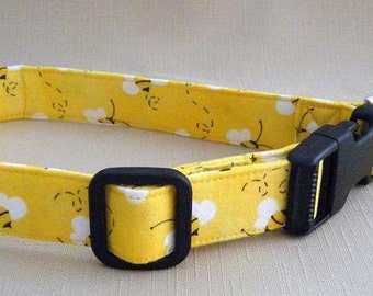Yellow Bumblebees  - Dog Collar