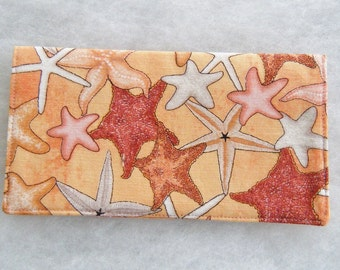 Checkbook Cover - Starfish