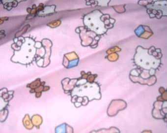 MadieBs Pink Hello Kitty  Fitted crib sheet