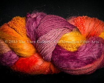 Cat Mountain Fiber Arts Fusion Yarn - 500 Yards Sunrise on the Sangre de Cristos, Plus Free Shawl Pattern
