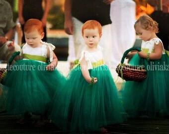 Custom Color Flower Girl Dress