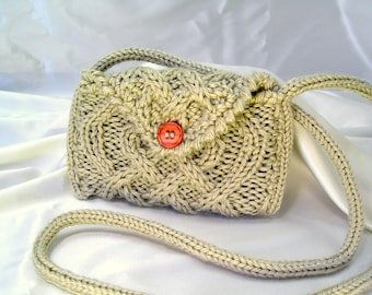 Knit Cell Phone Purse Pattern ~ PDF Cable Knit Cozy for Smartphones