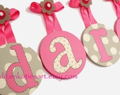 NEW Kids Baby Children Round Nursery Hanging Wall Letters