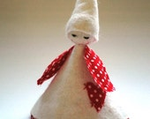 Freya the Christmas Fairy - Christmas Decoration or Ornament (white)