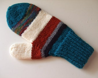 Handknit Mittens - Fall Colors - for Ladies/Teens