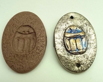 Scarab cabochon or pendant mold - Polymer Clay