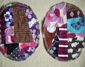 Patchwork Knee Patches - set of 2 purple