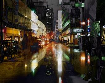 Osaka dreams at night print