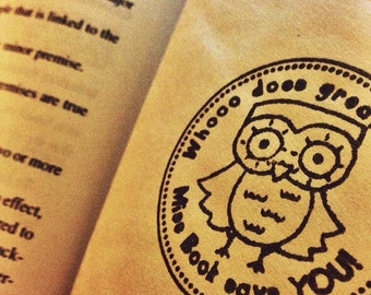Teacher Owl custom rubber stamp Lauren Alexander