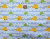 SALE David Walker, Beach, Whales Coast Fabric - Half Yard