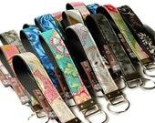 READY TO SHIP - Key Fob Wristlet - Key Chain Wristlet Custom Fabric - You Pick the Fabric - Borsa Bella