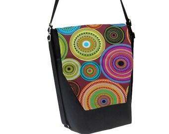 Backpack Convertible Bag - Shoulder Bag - Cross Body Purse - iPad Purse -3 in 1 bag- REMOVABLE FLAP - Borsa Bella - Bohemian Jewels Fabric