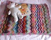 Zig and Zag pram blanket - knitting pattern pdf