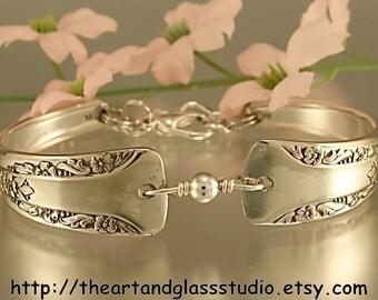 Silver Spoon Bracelet CAMELIA Jewelry Vintage, Silverware, Gift, Anniversary, Wedding, Birthday