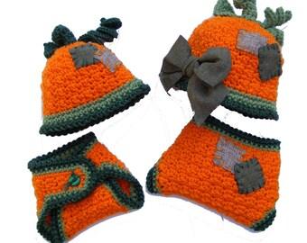 Pumpkin Hat Crochet Patterns Diaper Cover Baby Crochet Pattern Girls or Boys Photo Prop No. 61 Buy 2 Get 1 Free Crochet Pattern