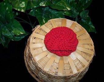 Crocheted Spiral Scrubbie, Red