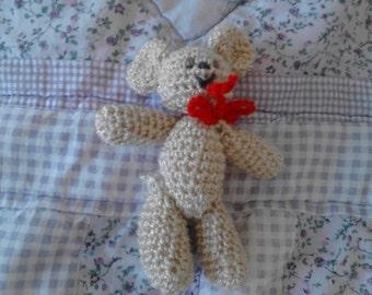 4in Shiny Cream Teddy Bear