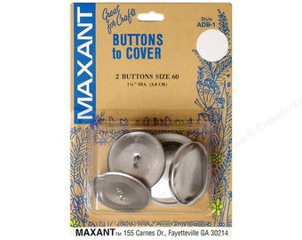 Maxant Cover BUTTONS - Size 60 - 1 1/2 Inch - 2 Pieces