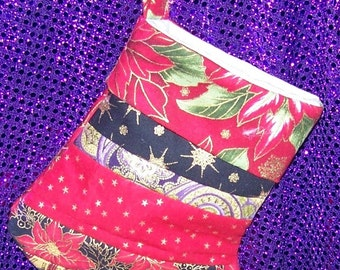 Small Crazy Quilt Stocking